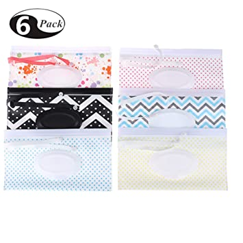 Refillable Personal Travel Clutch Dispenser Holder Reusable Baby Diaper Wipe Holder Portable Wet Wipe Pouch Dispenser Type 1 Joyous Journey 4-Pack Keeps Wet Wipes Moist