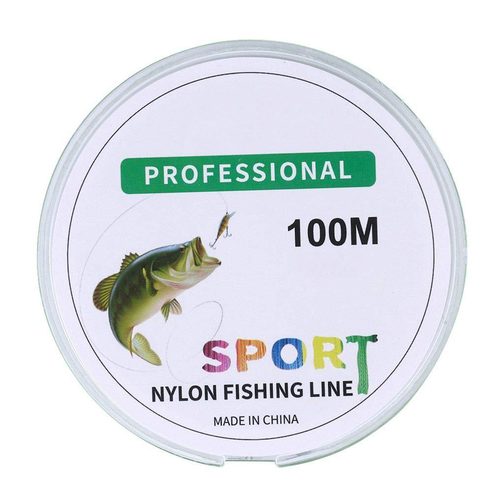 Luckiests 100m Basse Carp Ligne de p/êche en Nylon p/êche r/ésistant /à lusure par c/âble Bricolage p/êche Fil Rod Monofilament Cordon Poisson