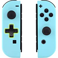 eXtremeRate Soft Touch Heaven Blue Joycon Handheld Controller Housing (D-Pad Version) with Full Set Buttons, DIY…