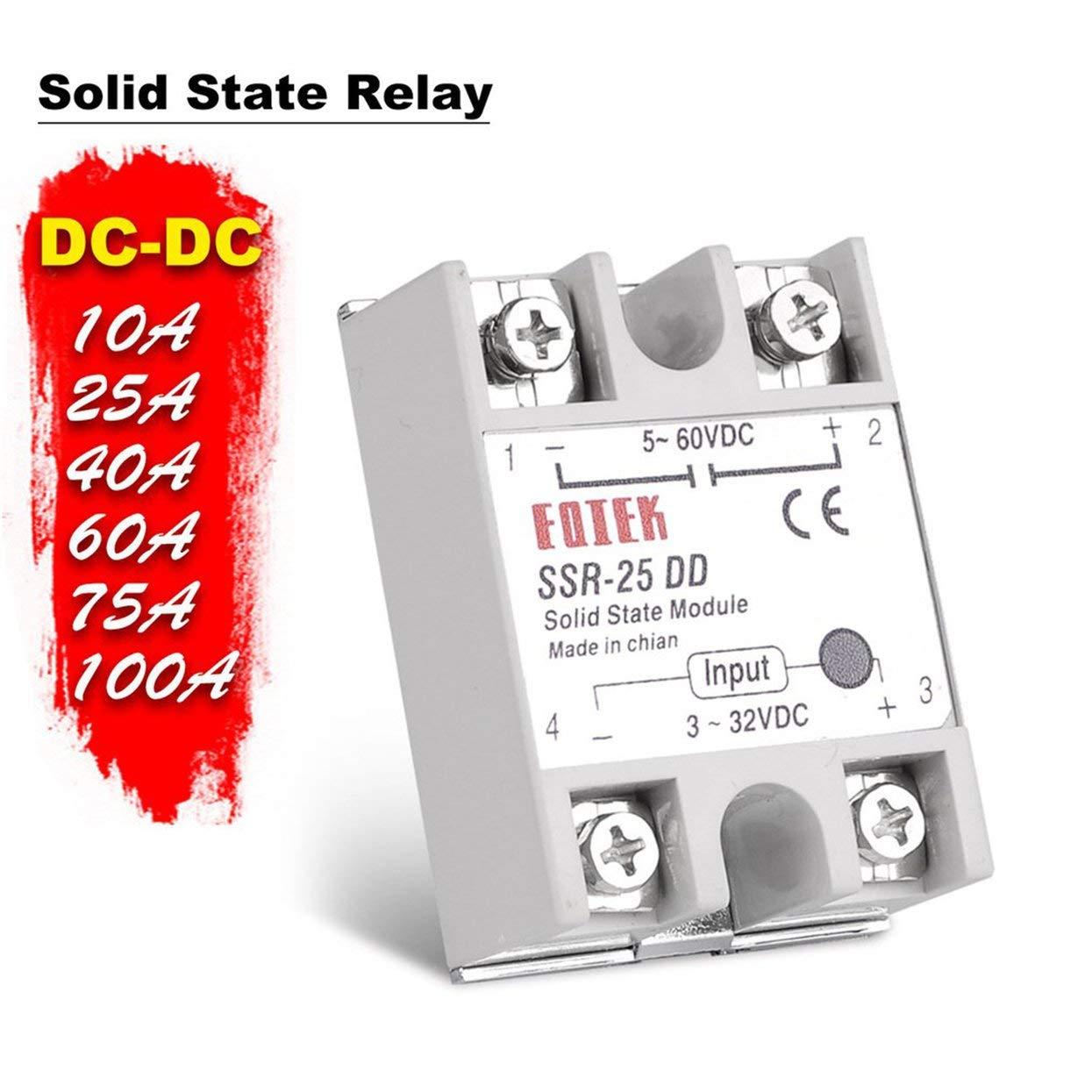 Tree-on-Life Solid State Relay SSR-10DD SSR-25DD SSR-40DD SSR-60DD SSR-80DD SSR-100DD 3-32V DC TO 5-60V DC SSR 3-25mA