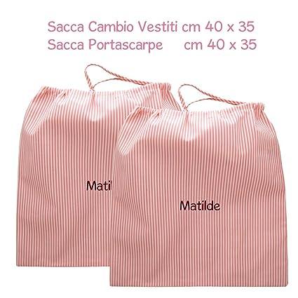 coccole- Bolsa guardería Scuola Materna y asilo nido – Rosa – 3 – 5 años
