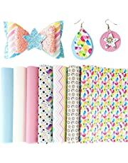 AOUXSEEM Vivid Shiny Pearl Litchi Pattern Faux Leather Sheets for Earrings Bows Making,Metallic PU Fabric Cotton Back 1mm Thickness【A4 Size/21cm x 30cm】