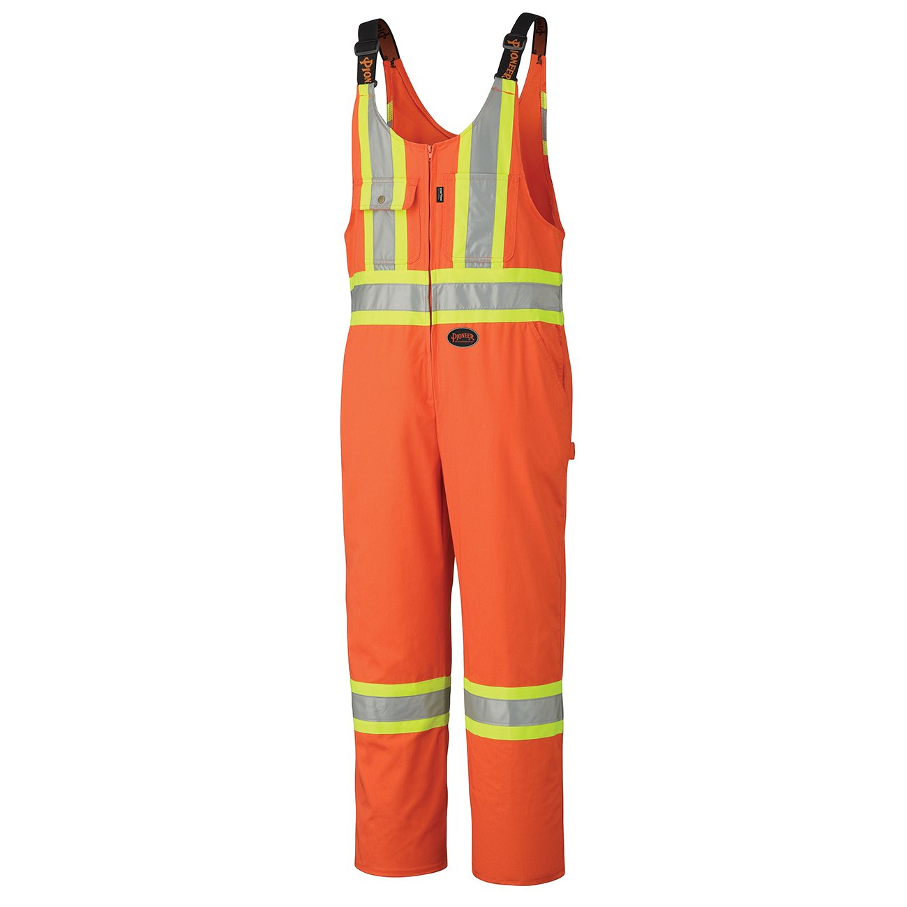 Pioneer V203018T-58 Tall Fit High Visibility Work Overall - 7 Reinforced Pockets, 2-Way Zipper, Blue, 58