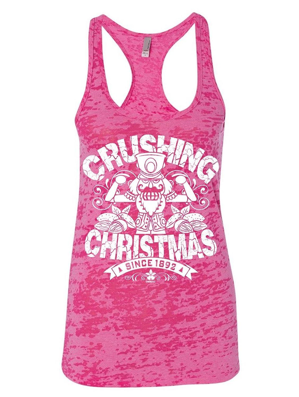 Manateez Women's The Nutcracker Crushing Christmas Crew Burnout Tank Top