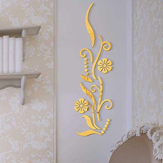 Wall Stickers Acrylic Mirror Lips Bedroom Background Decorative Mirrors