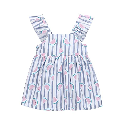 Girls' Baby Clothing Infant Baby Girls Princess Romper Striped Printed Summer High Waist Doll Collar Jumpsuit Pockets Outfits Summer Playsuit