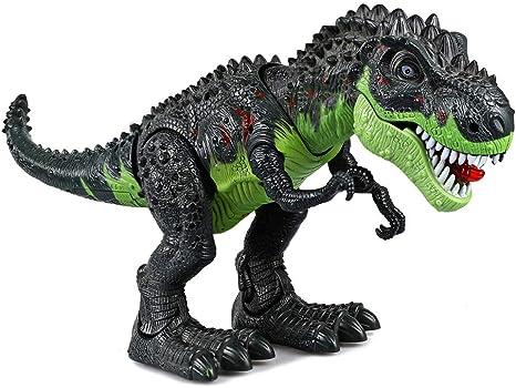 DeeXop Juguete electrónico de Dinosaurio Caminar con Dinosaurio ...