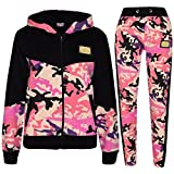 A2Z 4 Kids Kids Girls A2Z Badged Camouflage Contrast Panel Hooded Jogging Suit - T.S Camo 602 Baby Pink_11-12