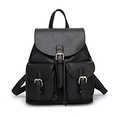 ca5e7b7ef26 Jonon Women's Leather Backpack Soft & Fashion Leather Lovely Backpack Cute  School bag for Girls