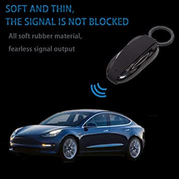 Remote Keychain Case with Silicone Car Accessories of Car Key Holder Protector for Model S Mint Green ETIAL Key Fob Cover for Tesla