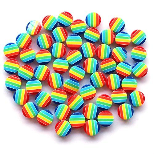 100Pcs/lot 12.5mm Round Resin Buttons Sewing Tools Decorative Button hidden-eyed rainbow Scrapbooking Garment DIY Apparel (Halloween Store Portland Oregon)