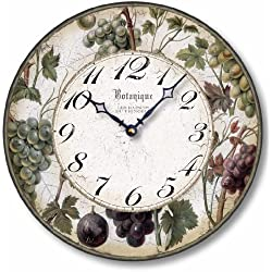 Item C8203 Antique Style 12 Inch Wine Grapes Clock