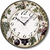 grapes wall clock - Item C8203 Antique Style 12 Inch Wine Grapes Clock