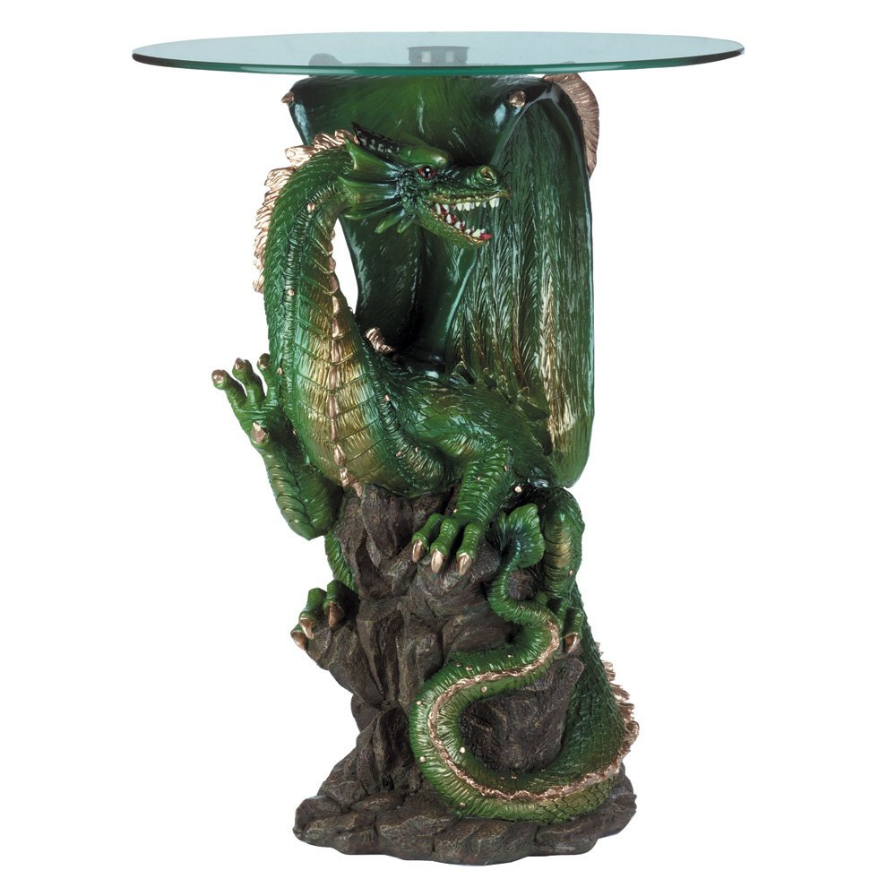Koehler SS-KHD-34738 24'' Green Collectible Dragon Table