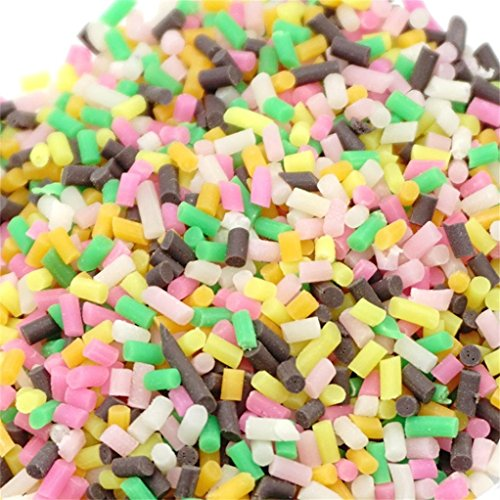 Kanzd Colorful Styrofoam Sugar Sprinkles Decorative Slime DIY Craft for Crunchy Slime (D) -