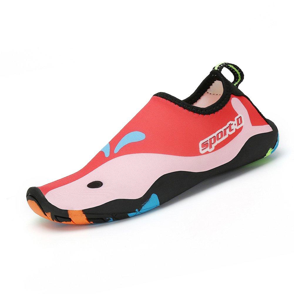 SAGUARO Enfant Chaussures d'eau Plage Chaussettes Pieds Nus Sport Aquatique Barefoot Garçon Fille Piscine Surf Natation Aqua Water Shoes