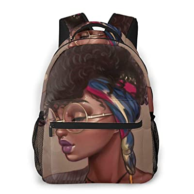 DANHAPWRG Boys Girls School Bag Bookbag Backpack African American Black Girls Outdoor Travel Bag for Elementary Middle School: Clothing