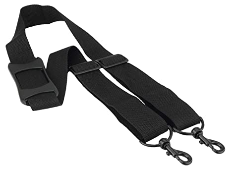 c202a949fa38 Made In USA Black Poly Webbing Replacement Travel Luggage Bag Shoulder  Strap with Rubber Grip Pad 1.5