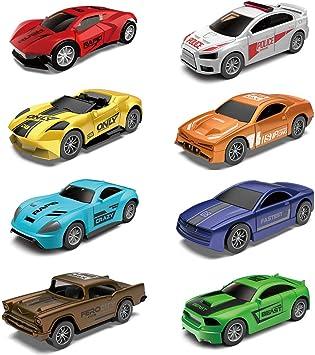 Bowa Pack de 8 Vehículos, Coches de Juguete, Metálico Miniaturas ...