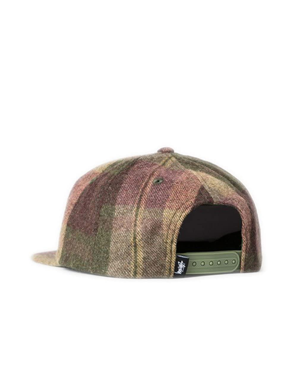 Stussy Smooth Wool Snapback Cap - Olive-One Size  Amazon.co.uk  Clothing 5ad2d08fefc1