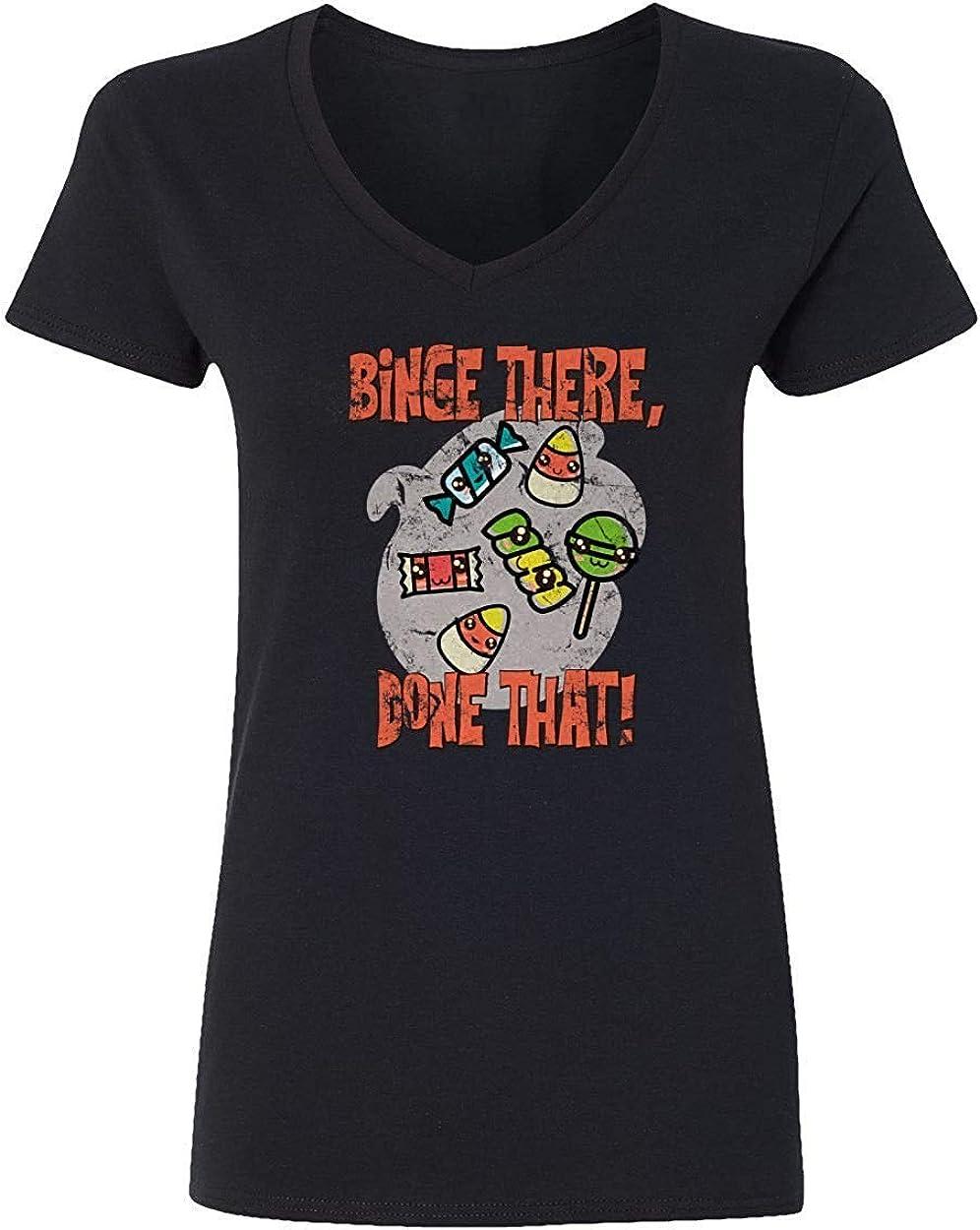 Nueva Camisa de la Novedad Que Trata la Camisa del Caramelo Que Estudia la Camiseta Vneck Divertida de Halloween del Estudio, 3XL: Amazon.es: Ropa y accesorios