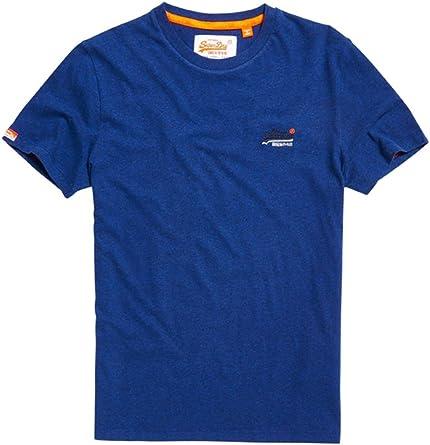 Blue Superdry Men/'s Orange Label Vintage Logo T-Shirt