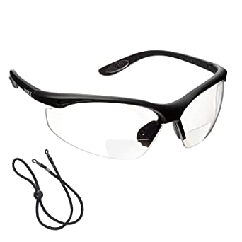a839c0394c voltX 'CONSTRUCTOR' (TRANSPARENTE dioptría 1.0) Gafas de Seguridad de Lectura  BIFOCALES que
