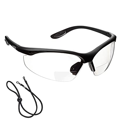 0a77627b1c2 voltX  CONSTRUCTOR  BIFOCAL Reading Safety Glasses (CLEAR +2.0 Dioptre) CE  EN166F certified Cycling Sports Glasses includes safety cord  Amazon.co.uk   DIY   ...