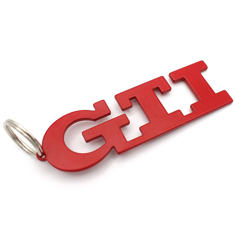 Portachiavi rosso GTI in acciaio inossidabile con rivestimento a polvere VmG-Store