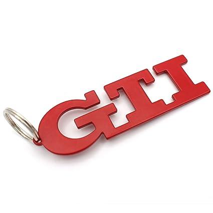 GTI Llavero rojo de acero inoxidable polvo - de VMG de Store ...