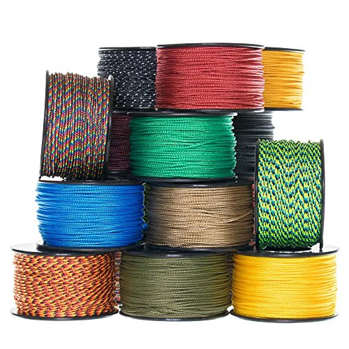 Paracord Planet Micro Cord: 1.18mm Diameter 125 Feet Spool of Braided Cord Available in a Variety of Colors Made in the USA