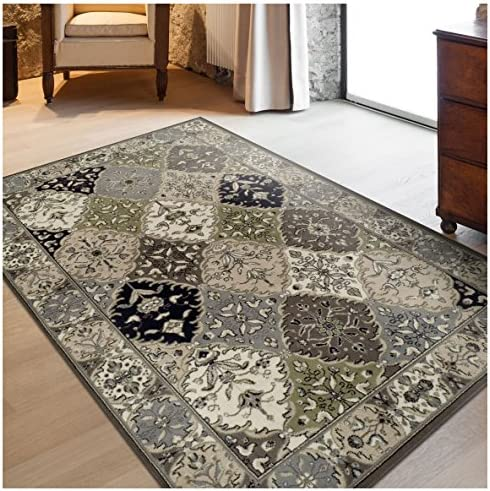 Superior Paloma Collection Area Rug, 8mm Pile Height with Jute Backing, Traditional Persian Rug Design, Fashionable and Affordable Woven Rugs – 4 x 6 Rug