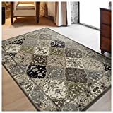 Superior Paloma Collection Area Rug, 8mm Pile Height with Jute Backing, Traditional Persian Rug Design, Fashionable and Affordable Woven Rugs – 8′ x 10′ Rug