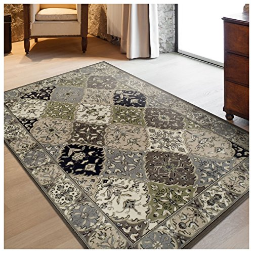 Superior Paloma Collection Area Rug, 8mm Pile Height with Jute Backing, Traditional Persian Rug Design, Fashionable and Affordable Woven Rugs - 2'7