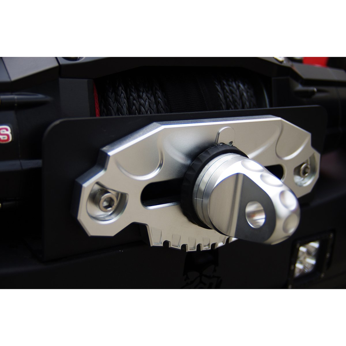 Topfire Universal Winch Hawse Fairlead For Synthetic Jeep Jk Wiring Up In Dress Rope With Decorative Design Silver Automotive
