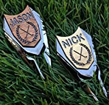 Golf Ball Marker Divot Tool Personalized Custom Engraved Golfers Accessories REAL Wood Markers
