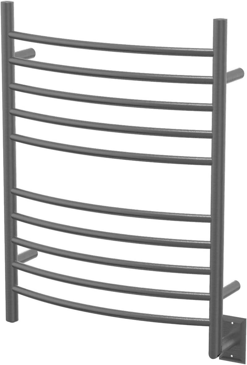 Amba RWH-CB Hardwired Curved Heated Towel Rack Brushed Nickel