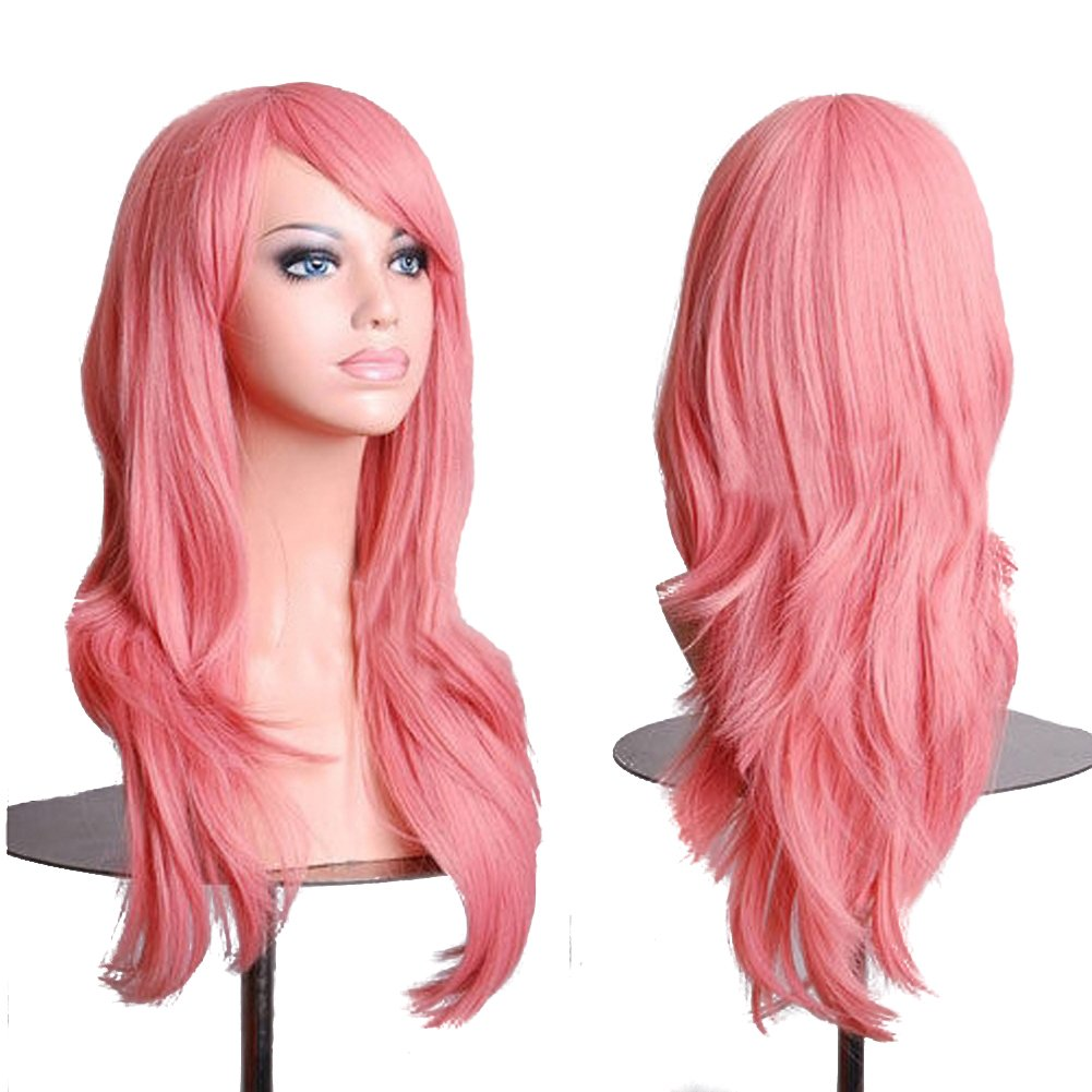 Red RoyalStyle 2870cm Long Wavy Universal Cosplay Wigs Party Hair for Woman