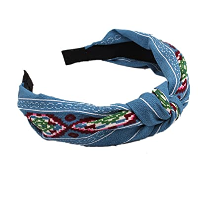 6209f11b89ea0 BIGBOBA Vintage Hairbands Floral Printed Twisted Elastic Headbands Women  and Girls Hair Accessories  Amazon.co.uk  Kitchen   Home