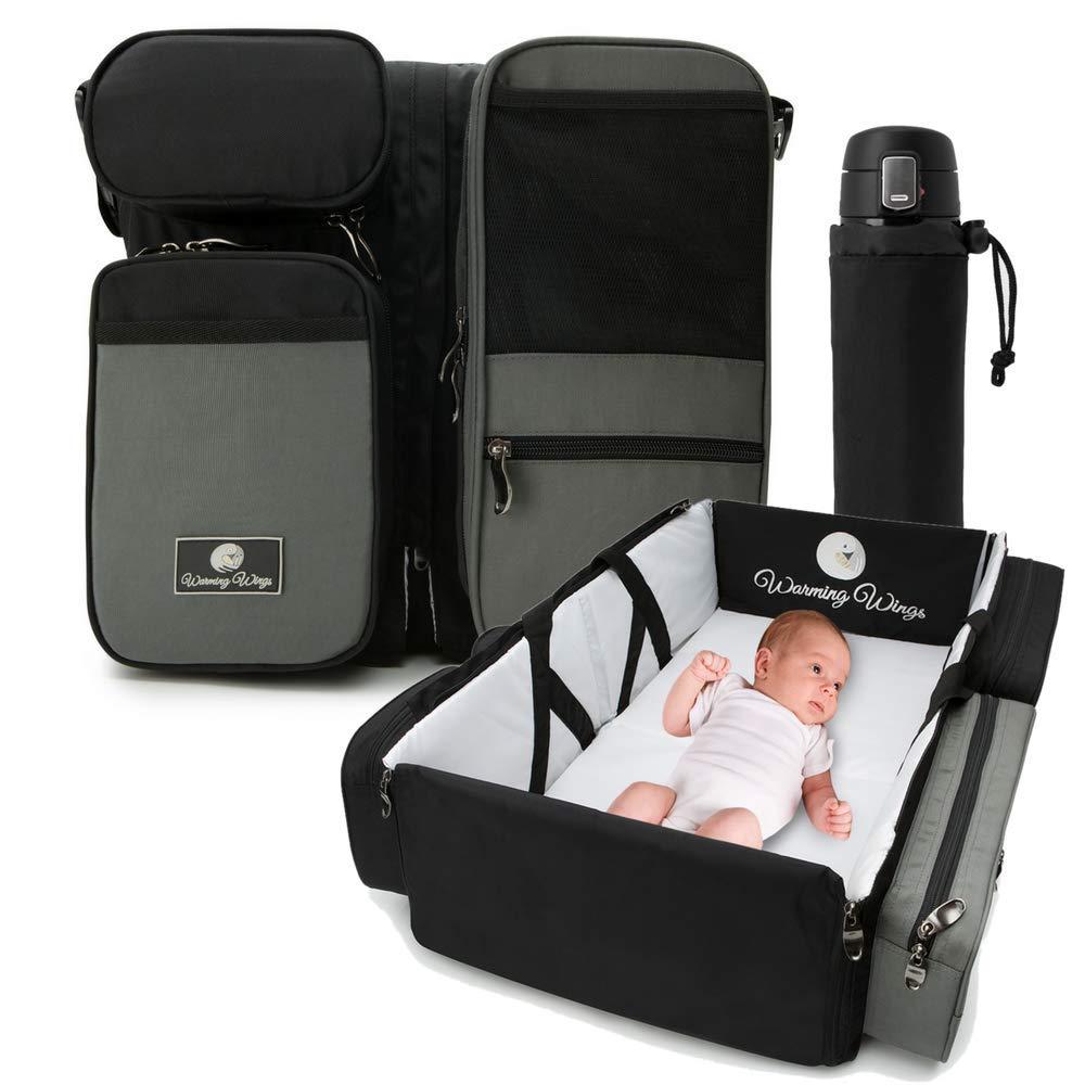 Multipurpose Portable Baby Changing Mat: Diaper Bag, Foldable Travel Bassinet, Playpen & Storage