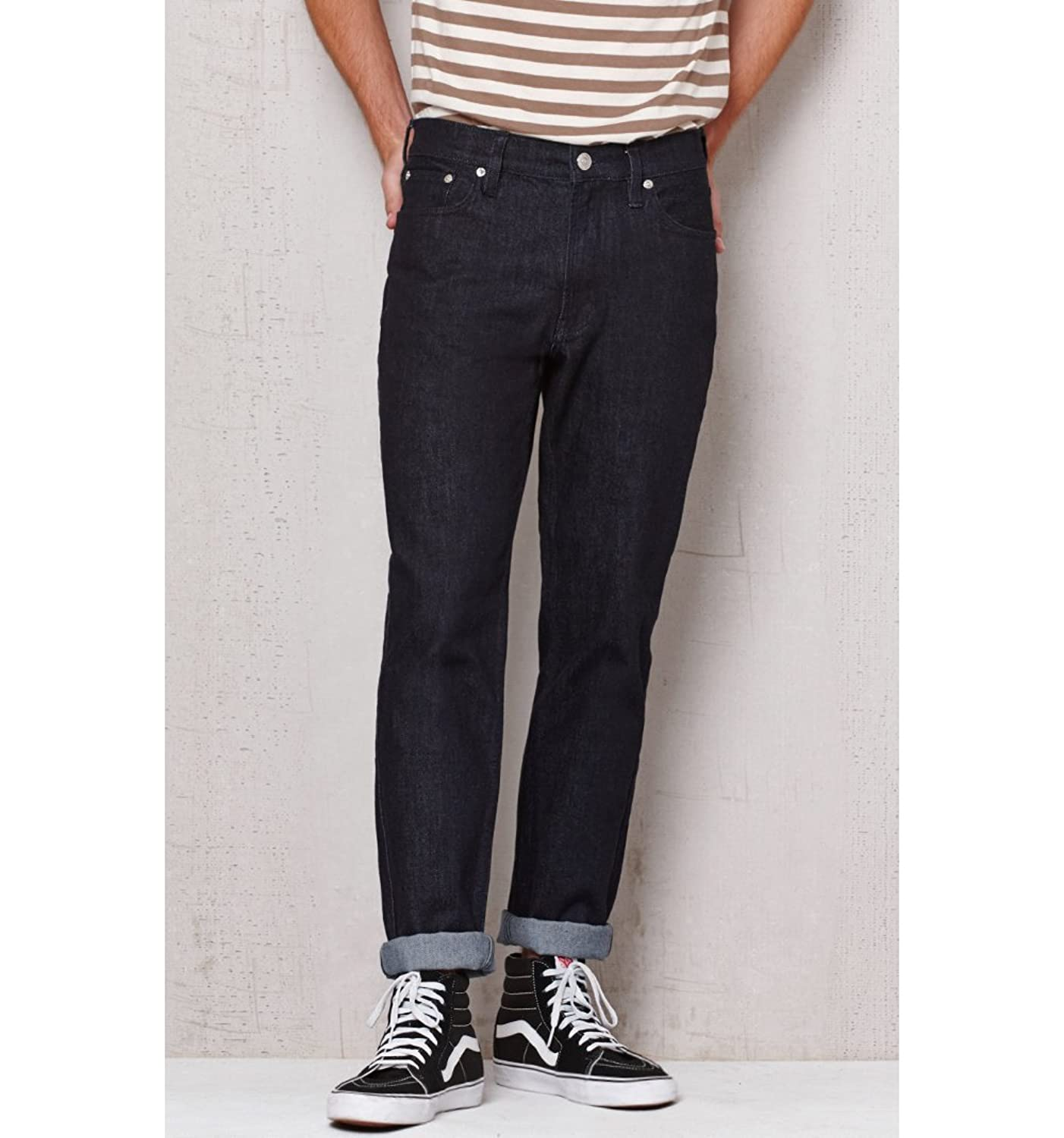 Pacsun Mens Straight Rinse Stretch Jeans
