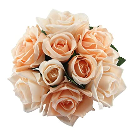 amazon com artificial fake flowers silk plastic artificial roses 9
