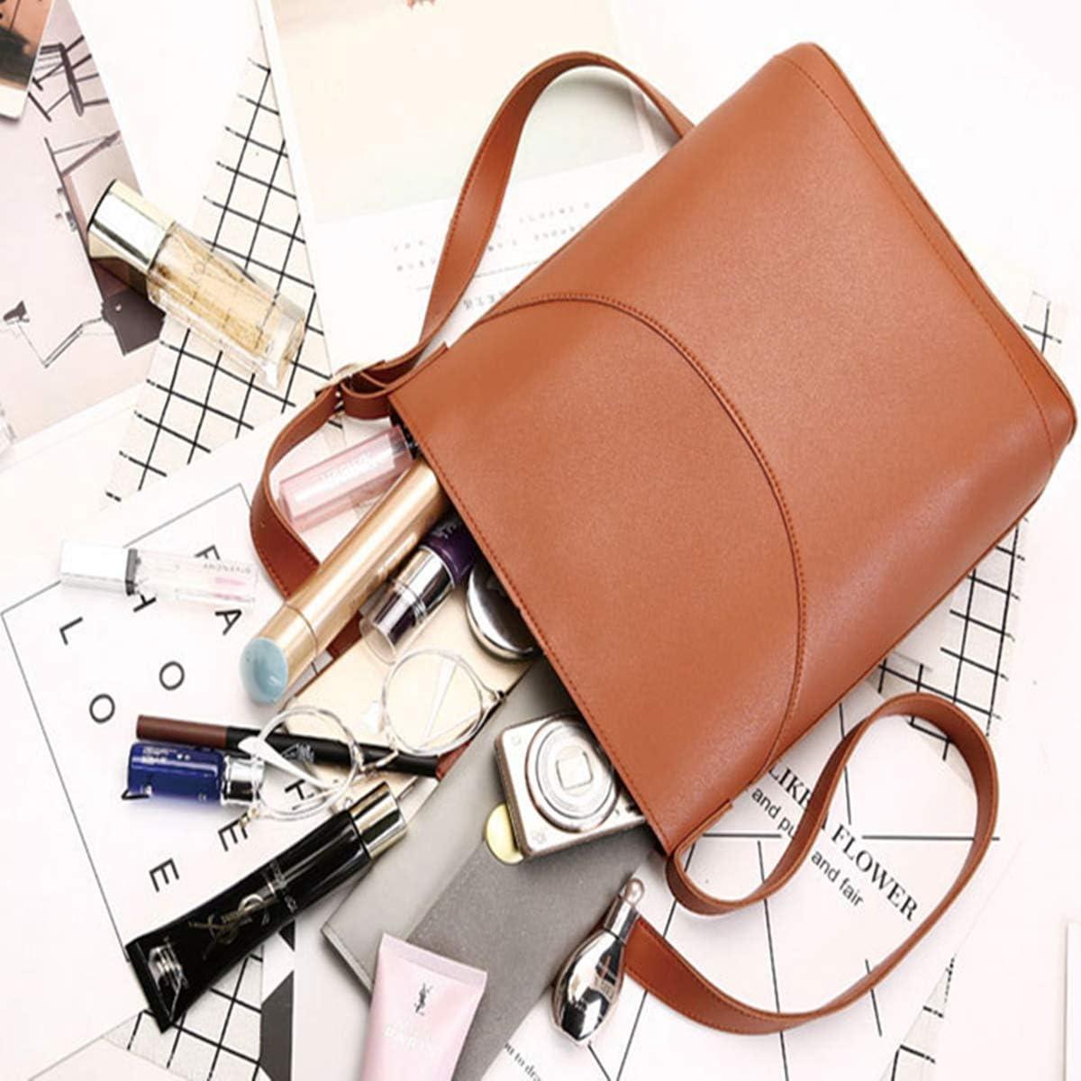 AnneBella Lady Pu Leather Elegant Stachel Bag Crossbody with Adjustable Strap