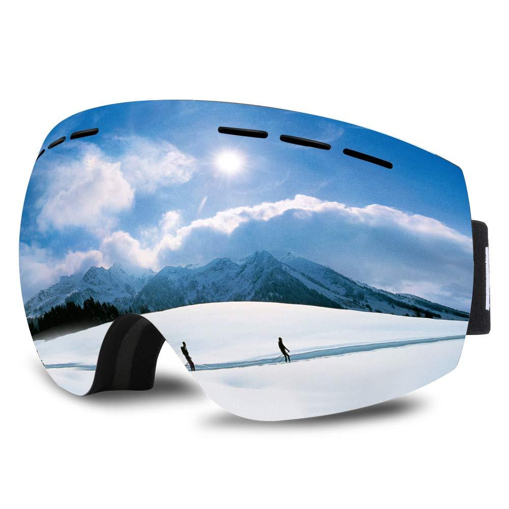 7db2c7b939 Gafas de Esquí, HAUEA Máscara de Esquí Unisex con Gran Campo de Visión,  Doble