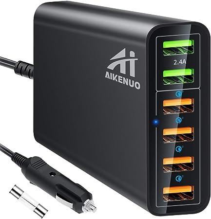 3. Aiken 6 Port Car Adapter - Top Choice for Big slabs