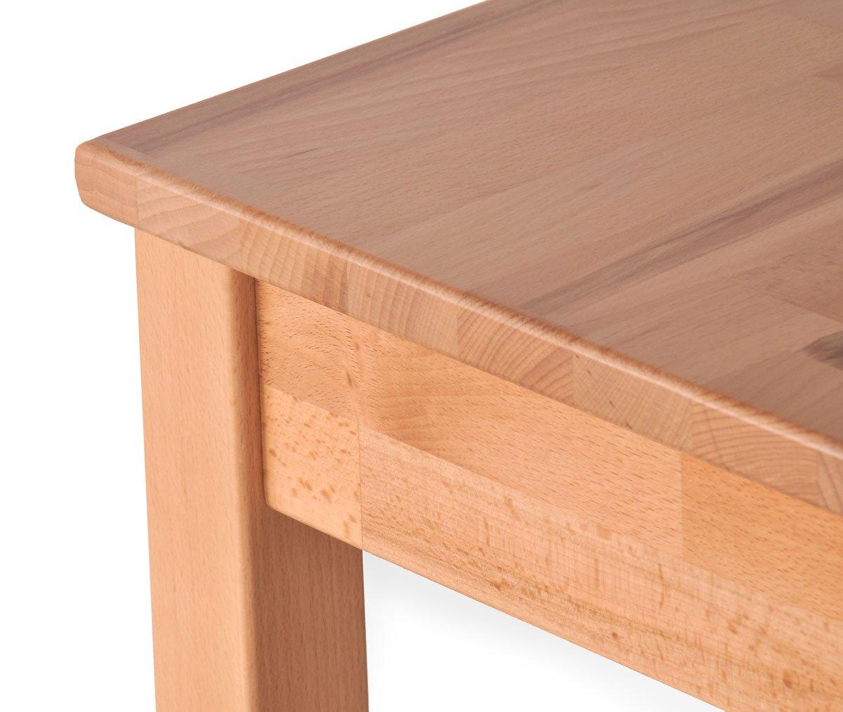 SAM® Kernbuche Tisch Erik Küchentisch lackiert 70 x 50 cm massiv ...