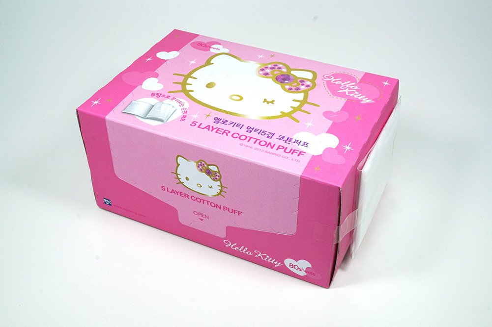 Hello Kitty 5-Layer Cotton Pads (80Sheets) White MJC Co. Ltd Manufacturer