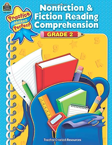 Nonfiction & Fiction Reading Comprehension Grade 2 (Practice Makes Perfect) (Material Teacher Book Resource)