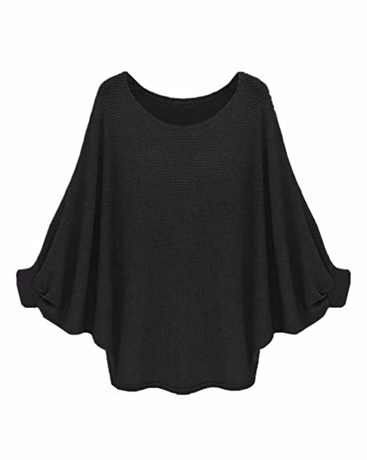 3018c9a8c StyleDome Womens Batwing Sleeve Chunky Knitted Oversized Sweater Pullover  Jumper Blouse T-Shirt Tops  Amazon.co.uk  Clothing