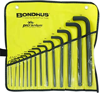 "product image for Bondhus 10935 0.050-1/2"" Ball End L-Wrenches in Vinyl Pouch, Set of 15"